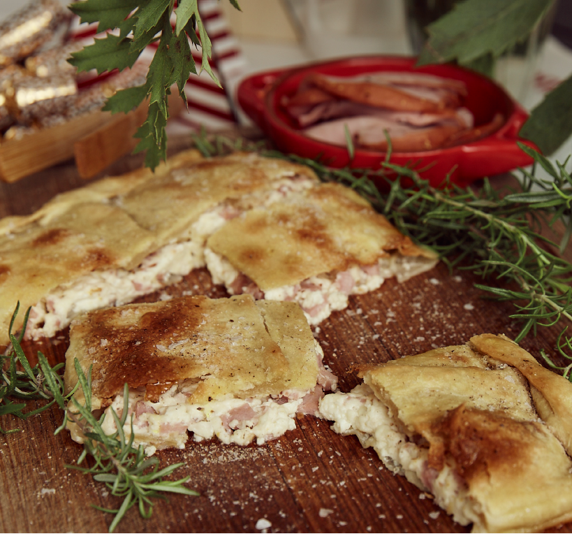 Leftover Ham Pizza Rustica