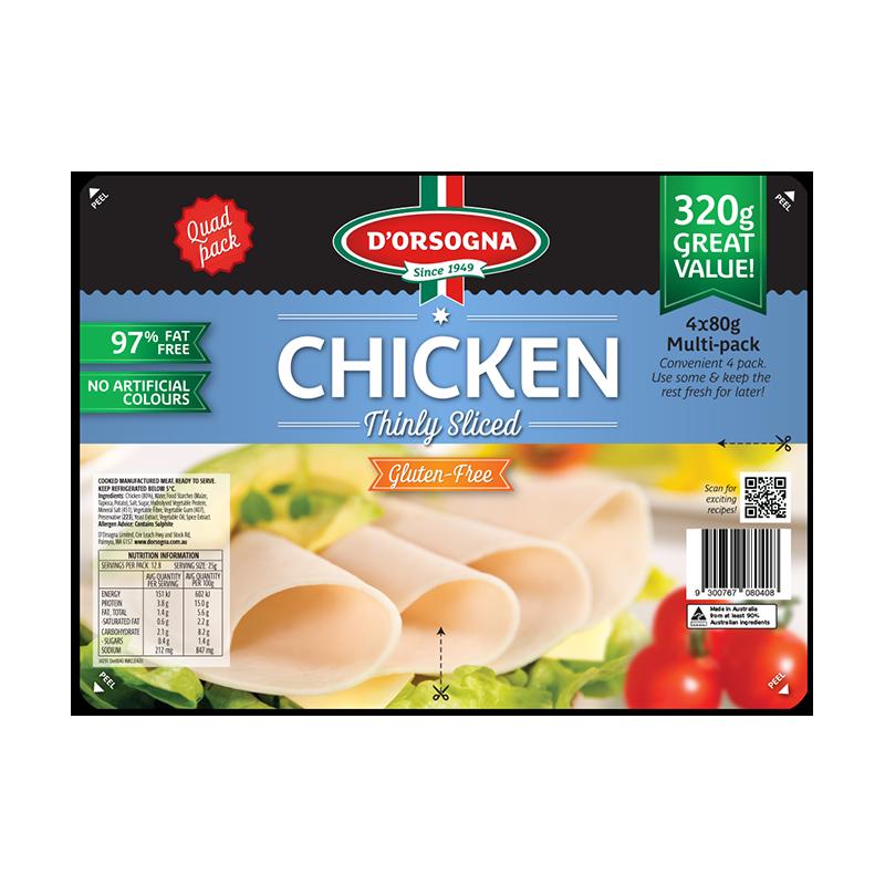 Chicken Quad pack 320g