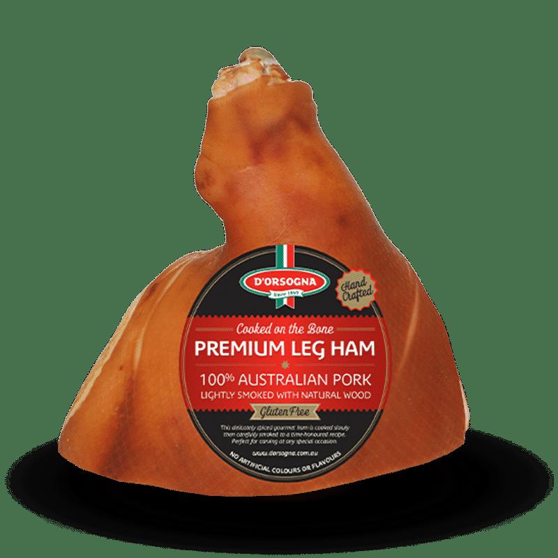 Cooked on the Bone Premium Leg Ham half