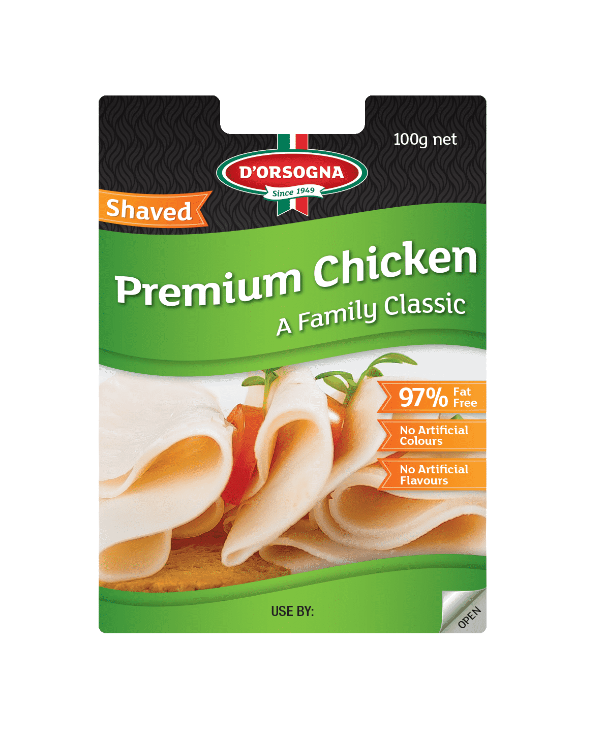 Family classic chicken sliced 100g