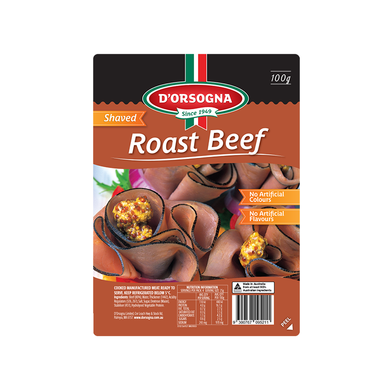 Family Classic Roast Beef shaved 100g