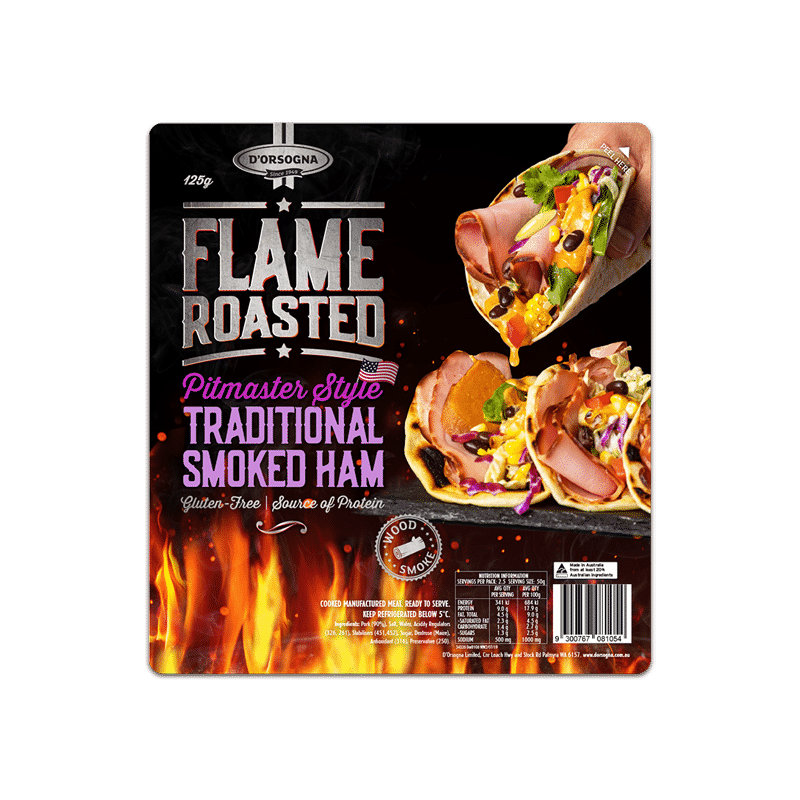 Flame Roasted Pitmaster Style Traditional Smoked Ham 125g