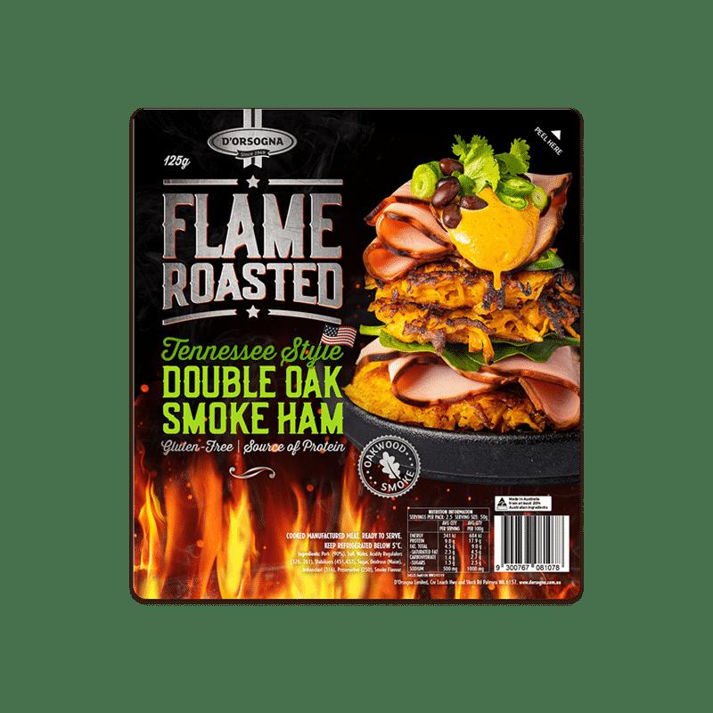 Flame Roasted Tennessee Style Double Oak Smoke Ham 125g