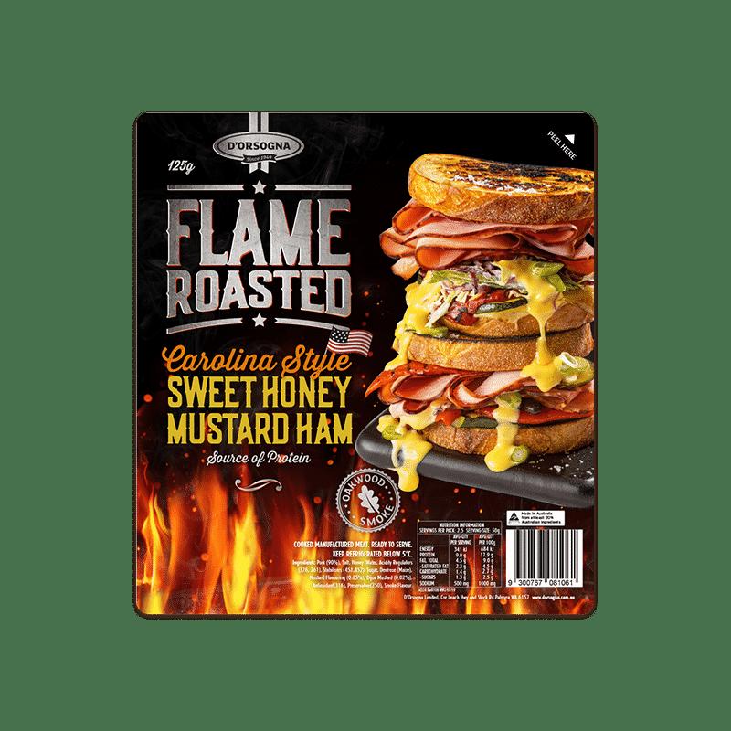 Flame Roasted Carolina Style Sweet Honey Mustard Ham 125g