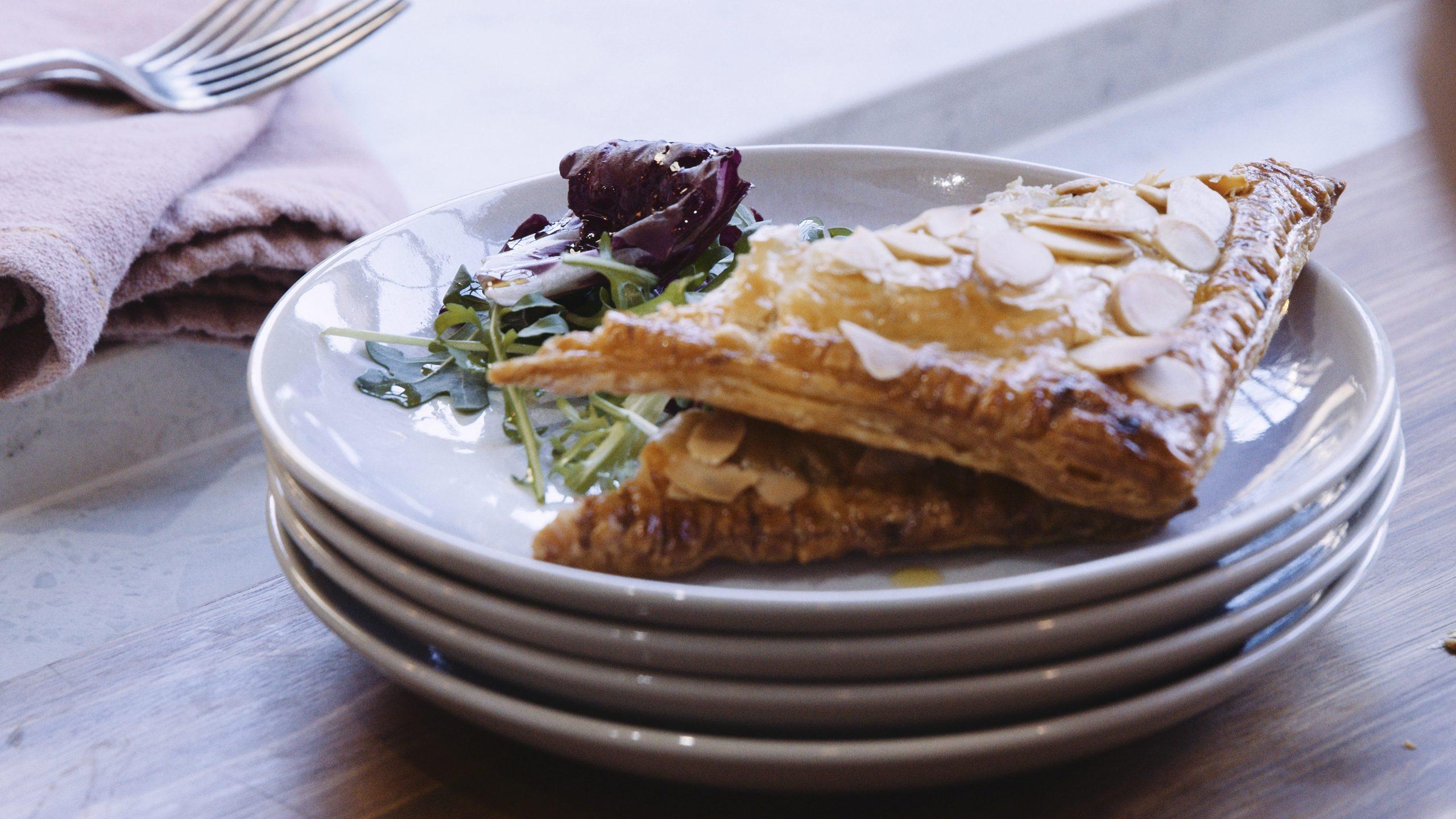 Bacon, Gorgonzola, Pear & Almond hand pies