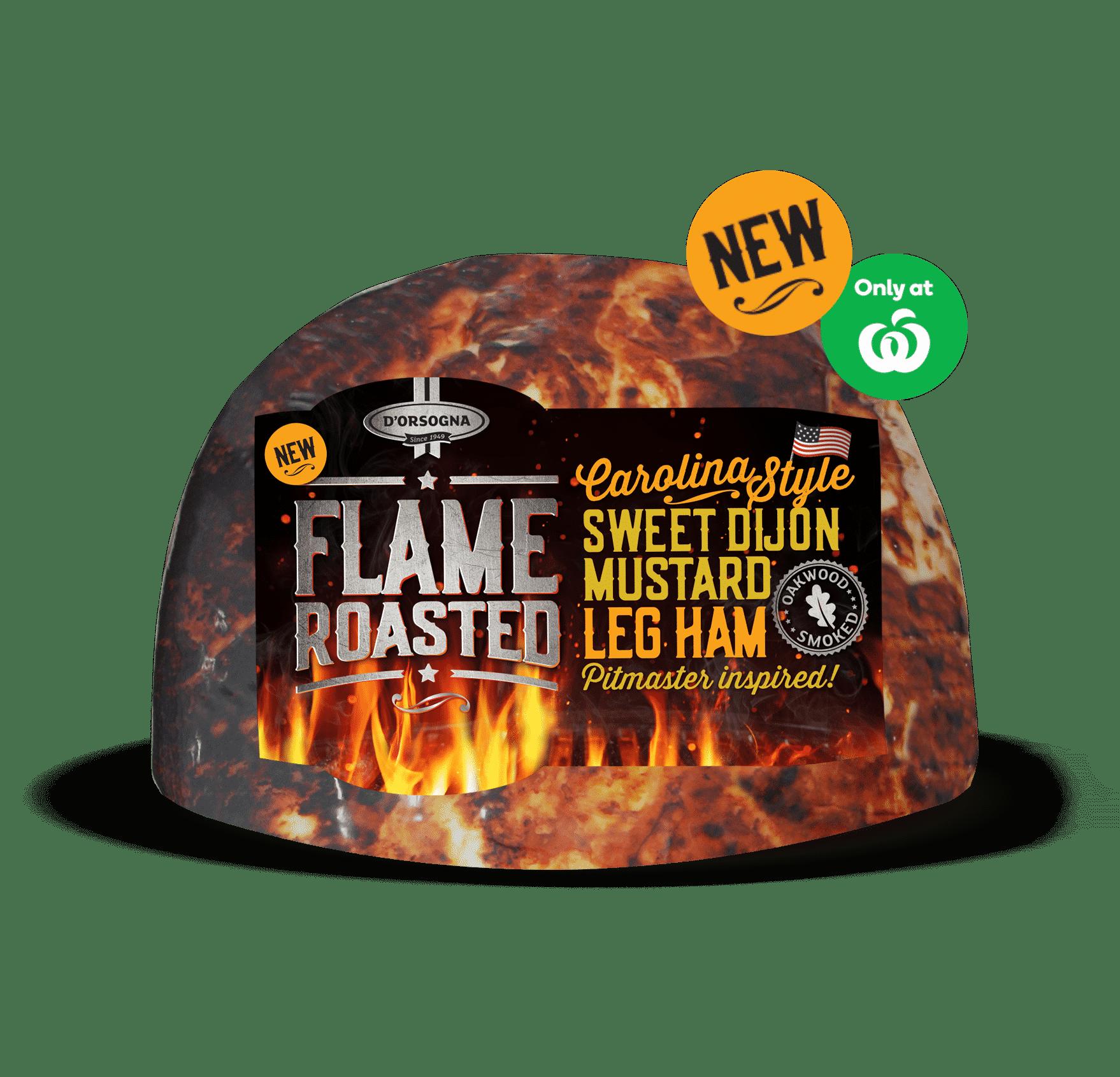 Flame Roasted Sweet Dijon Mustard Leg Ham