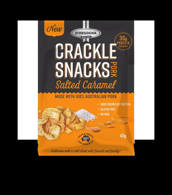 Pork Crackle Snacks – Salted Caramel