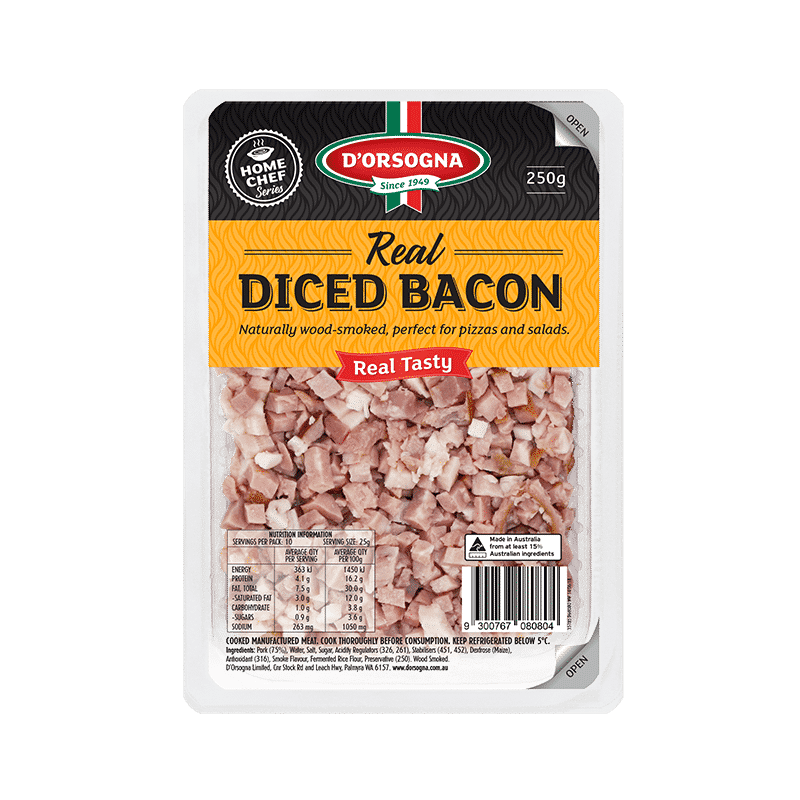 Real Diced Bacon 250g