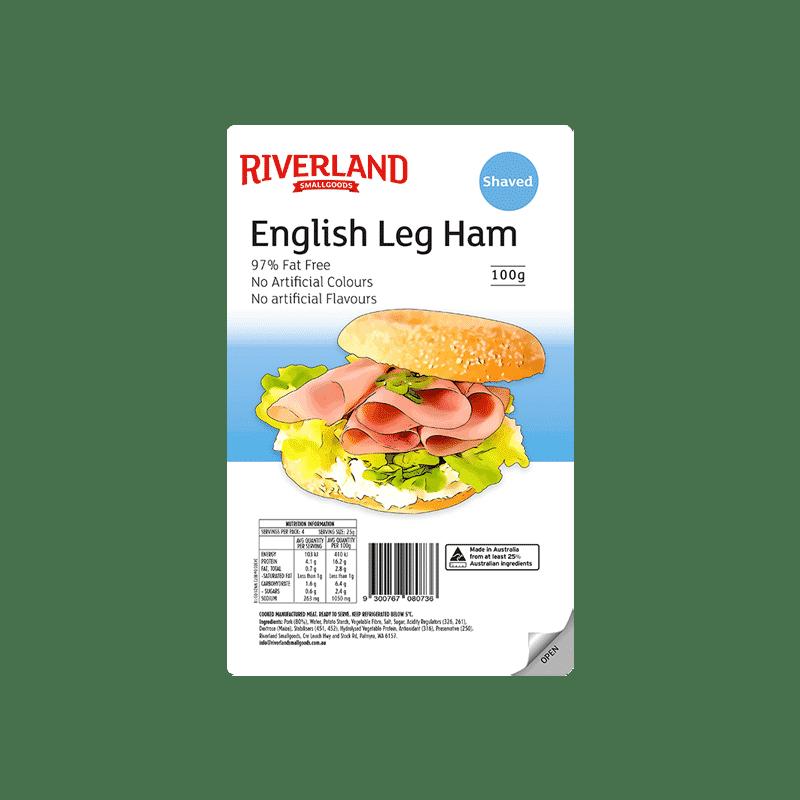 Riverland English Leg Ham shaved 100g