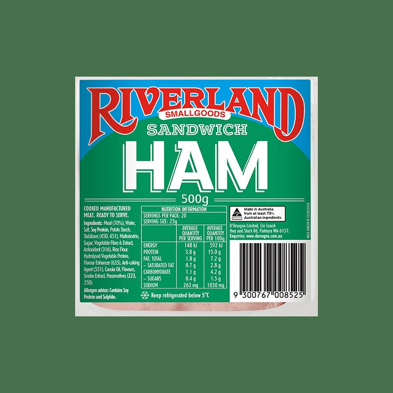 Riverland Sandwich Ham 500g