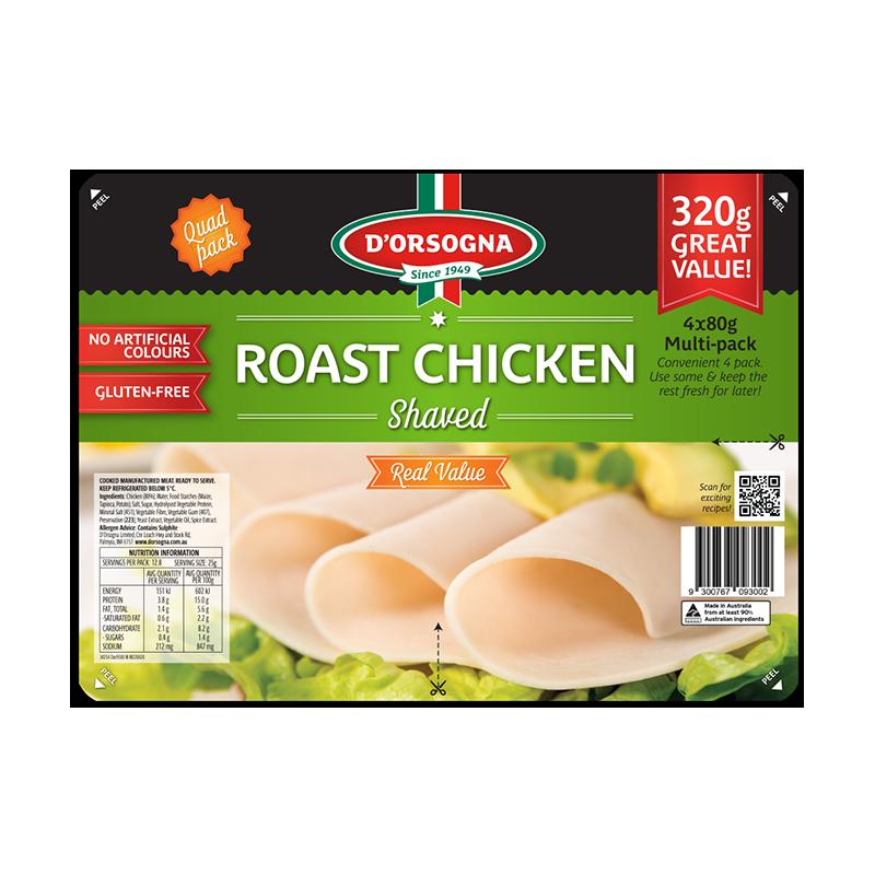Roast Chicken Quad pack 320g