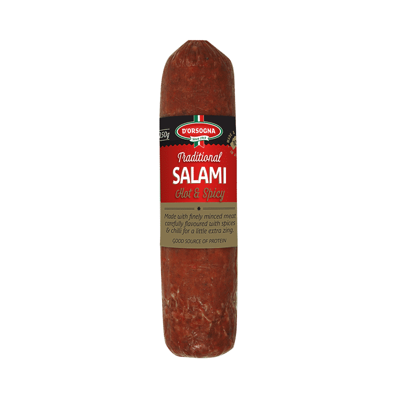 Traditional Salami Hot & Spicy 250g