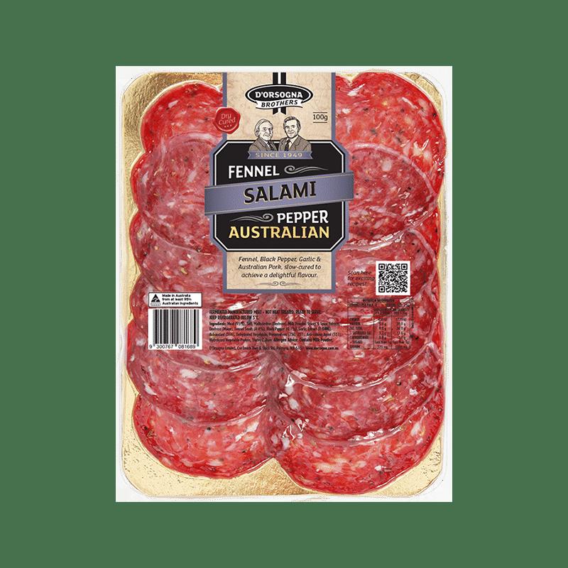 D'Orsogna Brothers Fennel & Pepper Salami 100g