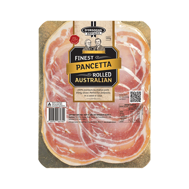 D'Orsogna Brothers Pancetta Rolled 100g