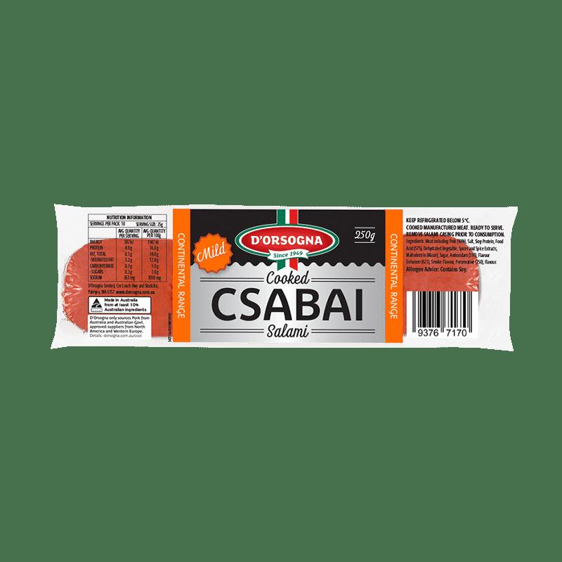 Cooked Csabai Salami Mild 250g