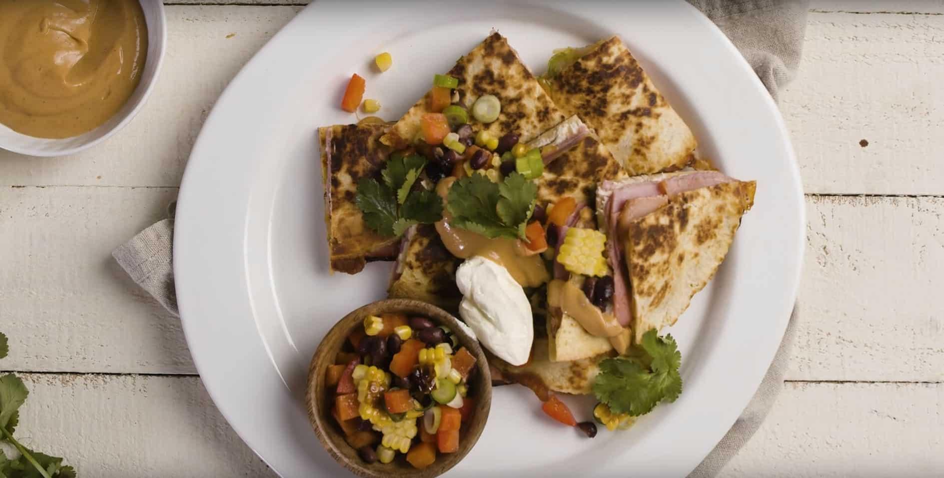 Honey Mustard Ham & Pulled Chicken Quesadilla